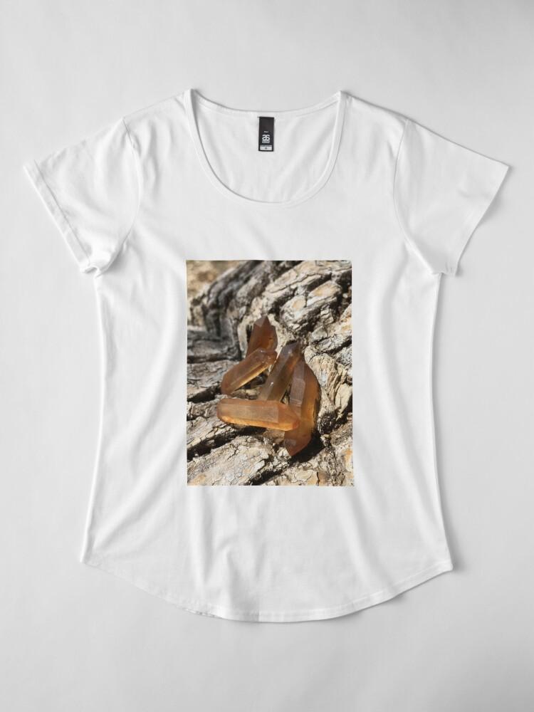 Alternative Ansicht von Sambia-Zitrinkristalle Premium Rundhals-Shirt