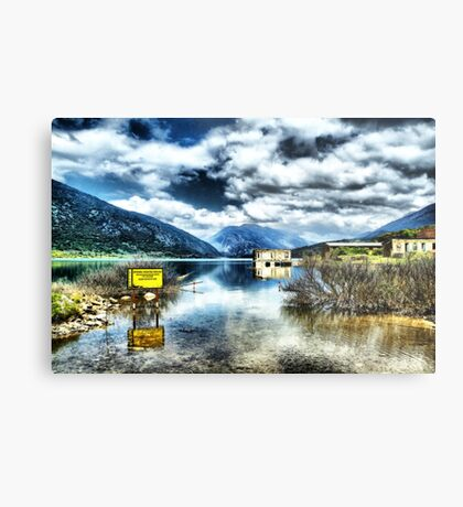 Reserve Lake Mornos Metal Print