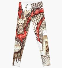 Red Crested Dragon Leggings
