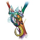 Lizard Alebrije by renc-art