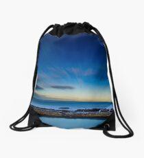Ghost Surfer, Merewether Ladies Pool, Australia Drawstring Bag