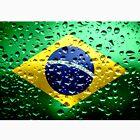 Flag of Brazil - Raindrops by Dr-Pen