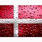 «Bandera de Dinamarca - Gotas de lluvia» de Dr-Pen