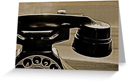 Old Phone in the Window by Jen Waltmon