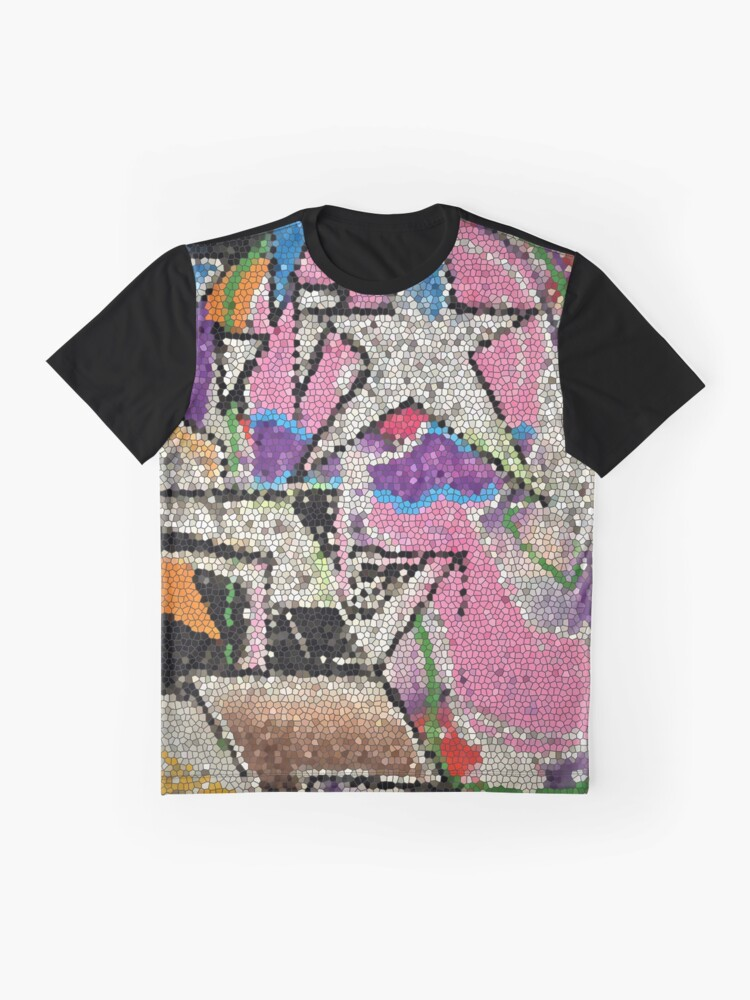 Alternative Ansicht von GRAFFITI MOSAIK MIT STERN STREETART Grafik T-Shirt