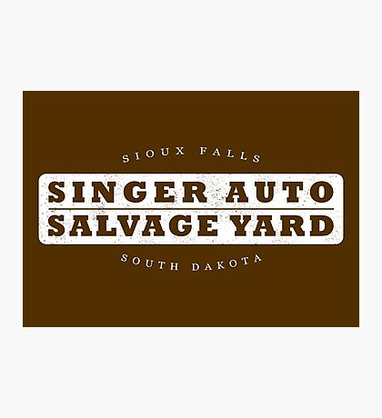 Singer Auto Salvage Yard Photographic Print