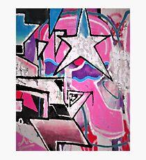 GRAFFITI POPART STREETART MIT STERN PINK Fotodruck