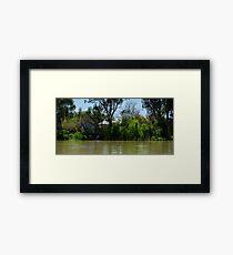 Restful Retreat - Murray River Framed Print