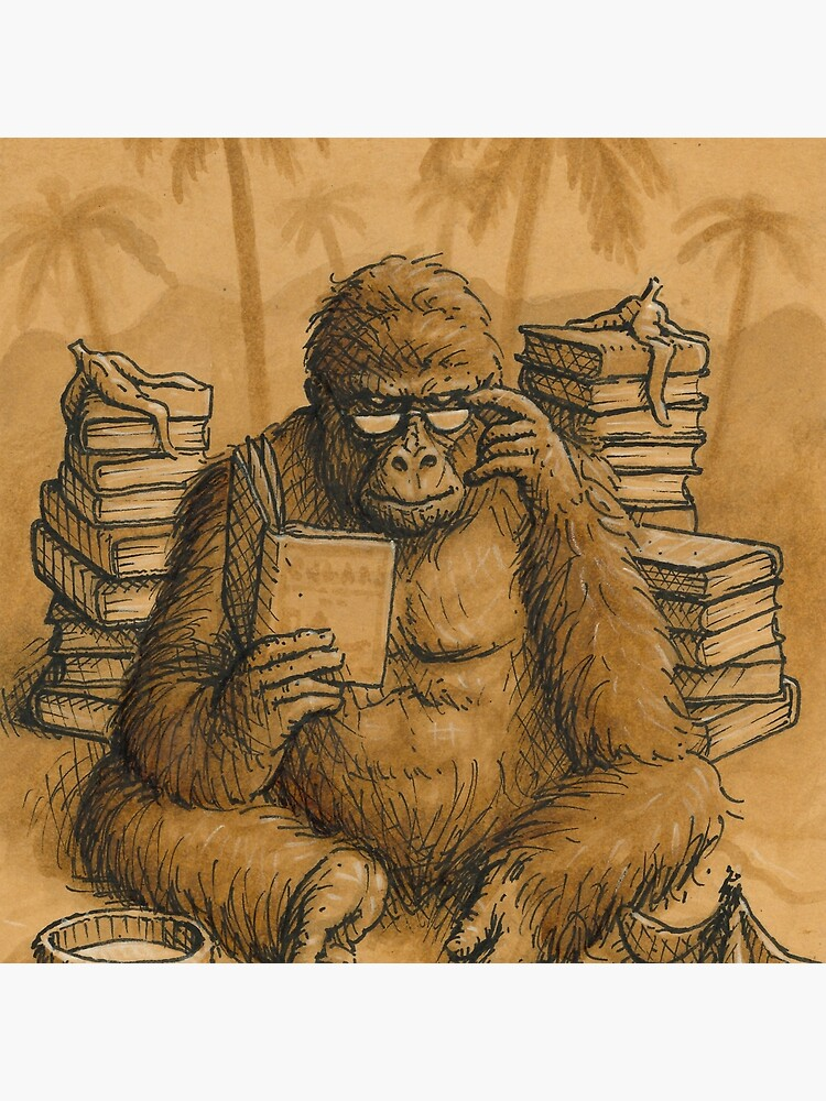 Coffee Art - 'Smart Gorilla' by korbbit