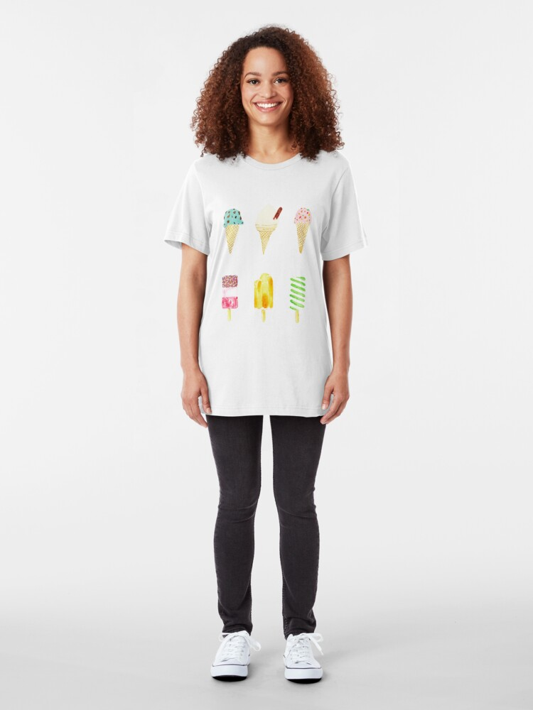 Alternate view of ice cream selection Slim Fit T-Shirt