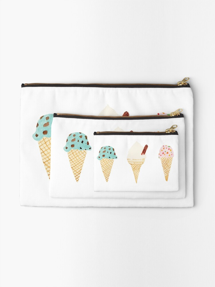 Alternate view of ice cream selection Zipper Pouch