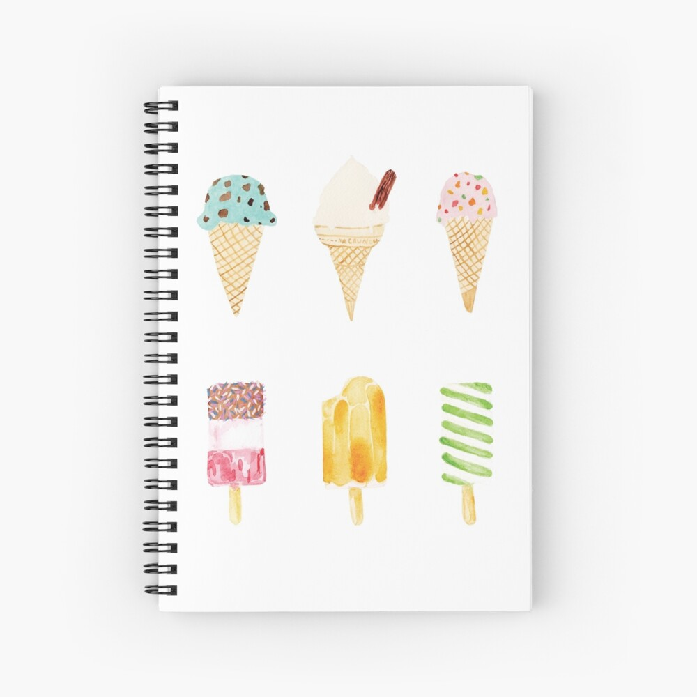 ice cream selection Spiral Notebook