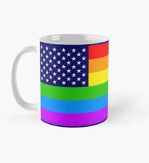 Gay USA Rainbow Flag - American LGBT Stars and Stripes Tasse