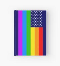 Gay USA Rainbow Flag - American LGBT Stars and Stripes Notizbuch