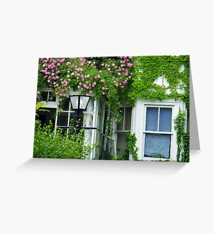 Rental Unit with Roses Greeting Card