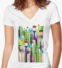 Real Weapons Of Mass Creation II Women's Fitted V-Neck T-Shirt