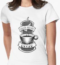 Tod vor entkoffeiniert Tailliertes T-Shirt für Frauen