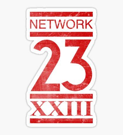 Network 23 Distressed Sticker