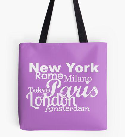 Cityscape White ... Tote Bag
