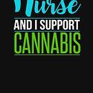 Marijuana Cannabis Support Nurse CBD Oil Cure Awareness Shirt Nurse Hat by normaltshirts