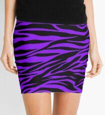 Purple Animal Stripes Mini Skirt