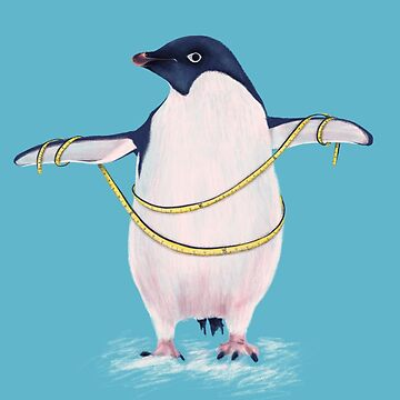 Cute Fat Penguin Goes On Diet by azzza