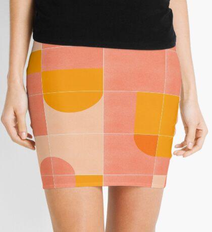 Retro Tiles 03 #redbubble #pattern Mini Skirt