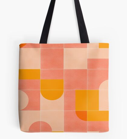 Retro Tiles 03 #redbubble #pattern Tote Bag