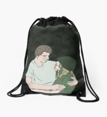 Hotlips and Trapper Drawstring Bag