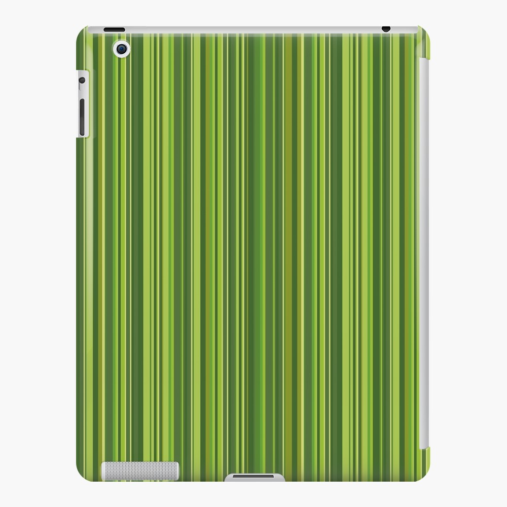 Viele bunte Streifen in Grün iPad-Hülle & Skin