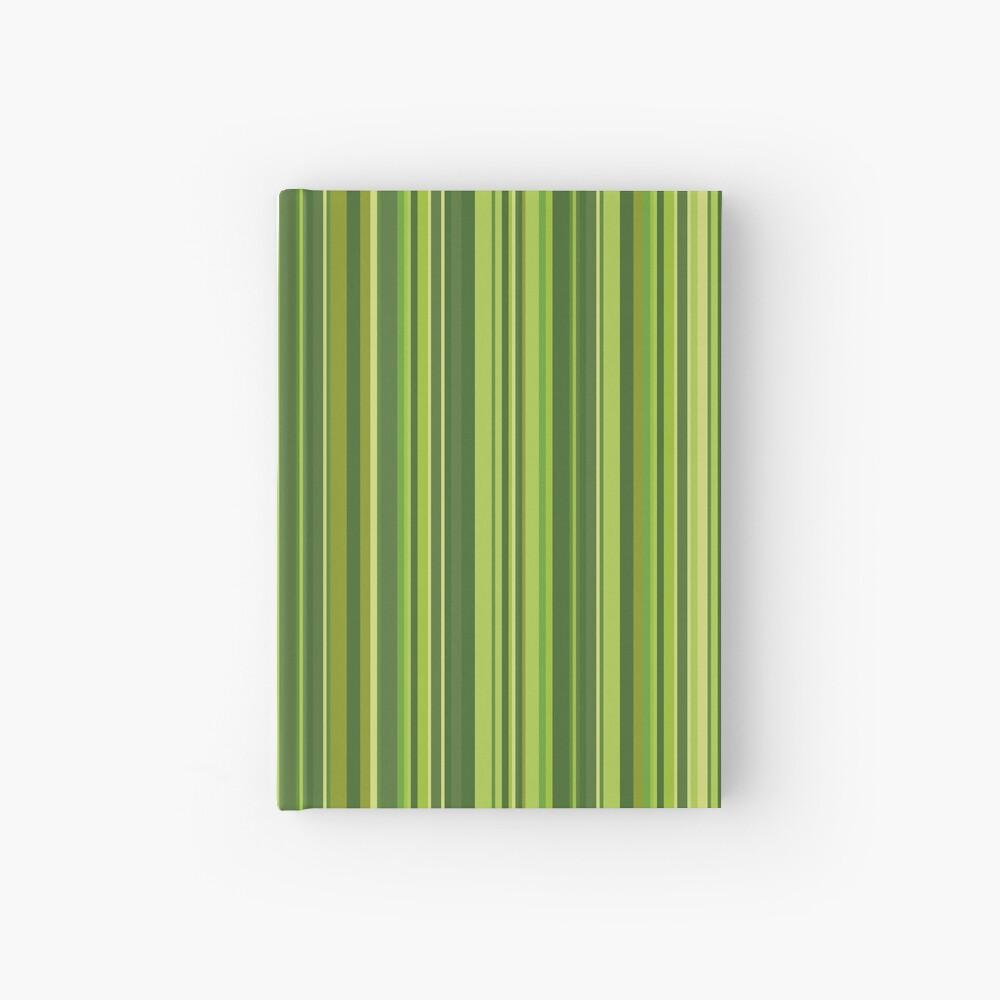 Viele bunte Streifen in Grün Notizbuch