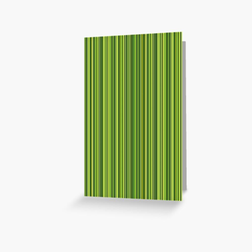 Viele bunte Streifen in Grün Grußkarte