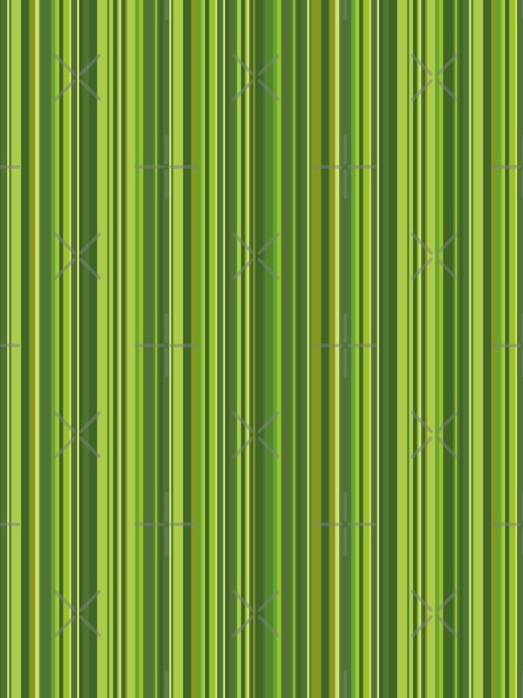 Viele bunte Streifen in Grün von pASob-dESIGN