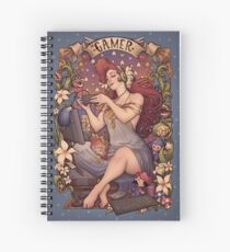 Gamer girl Nouveau Spiral Notebook