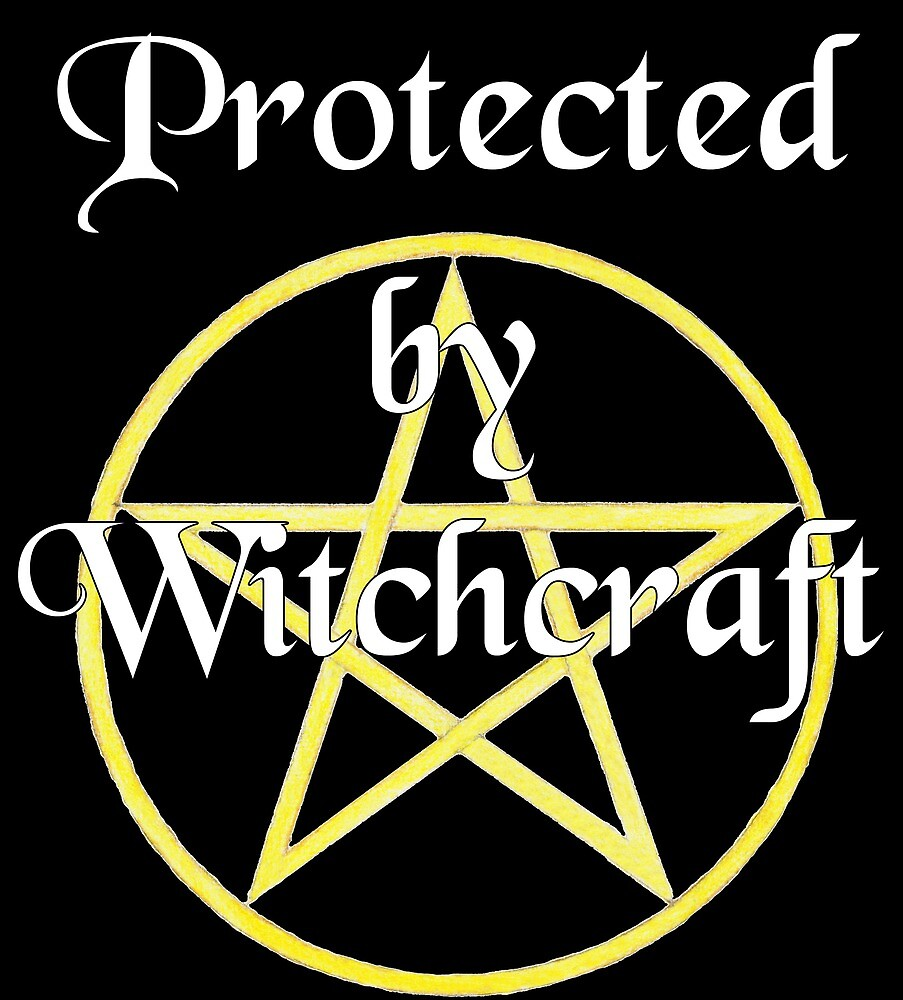 Protected by Witchcraft - dark background by svehex