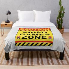 VIDEO GAMES: CAUTION GAMES ZONE Throw Blanket