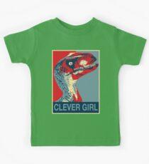 Raptor Propaganda - Cleveres Mädchen Kinder T-Shirt