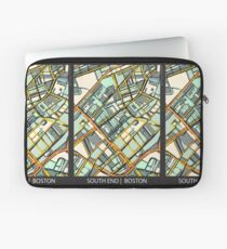 ABSTRACT MAP OF BOSTON SOUTH END Laptop Sleeve