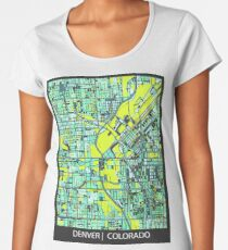ABSTRACT MAP OF DENVER, CO Premium Scoop T-Shirt