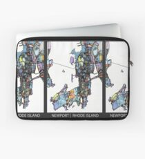 ABSTRACT MAP OF NEWPORT, RI Laptop Sleeve