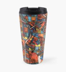 ABSTRACT MAP OF SAN ANTONIO, TX Travel Mug