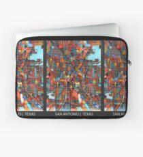 ABSTRACT MAP OF SAN ANTONIO, TX Laptop Sleeve