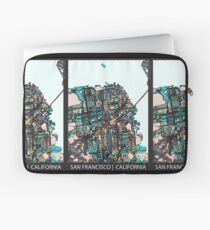 ABSTRACT MAP OF SAN FRANCISCO, CA Laptop Sleeve