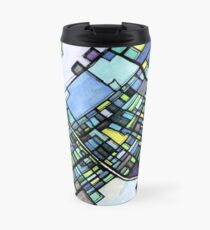 ABSTRACT MAP OF STATE COLLEGE, PA Travel Mug