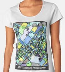 ABSTRACT MAP OF STATE COLLEGE, PA Premium Scoop T-Shirt