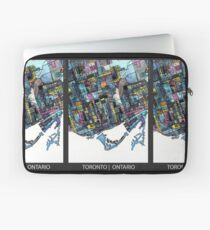 ABSTRACT MAP OF TORONTO, ONTARIO Laptop Sleeve