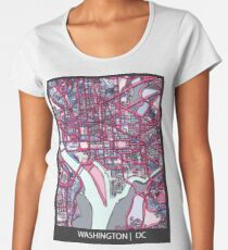 ABSTRACT MAP OF WASHINGTON, DC Premium Scoop T-Shirt