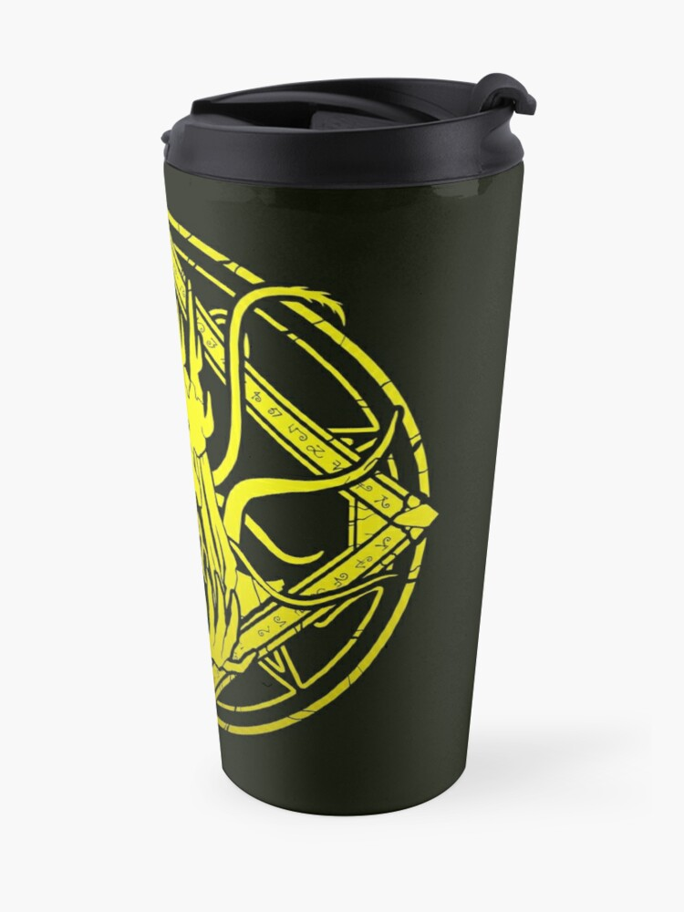 Alternate view of The King in Yellow - Hastur - Circle design Travel Mug