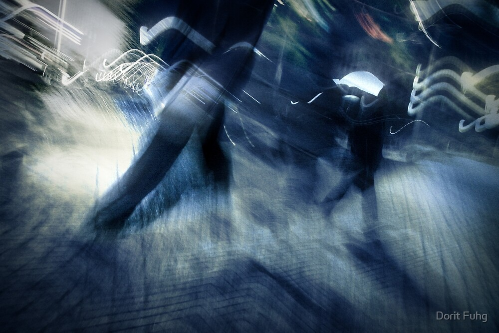 blue rush hour melodrama by Dorit Fuhg