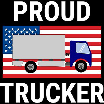 Proud Trucker USA Flag Truck Driver T-shirt by zcecmza